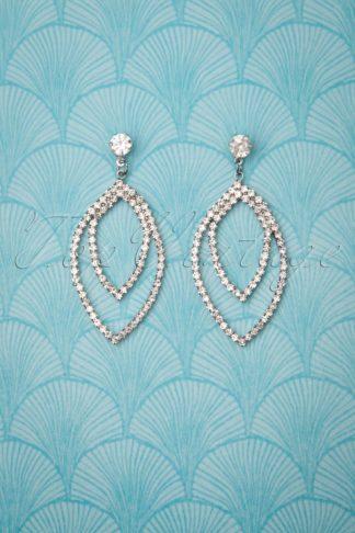 50s Mae Earrings in Silver