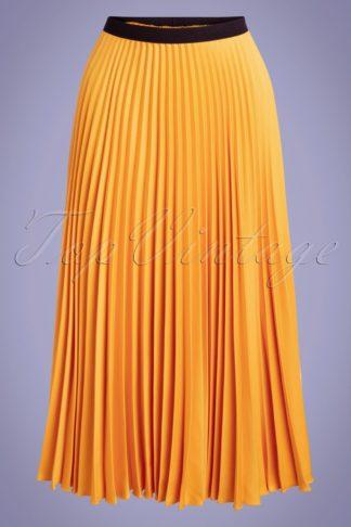 50s Marilyn Pleated Skirt in Honey