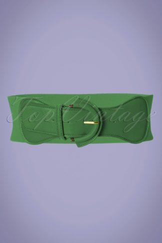 50s Maxine Cinch Stretch Belt in Green