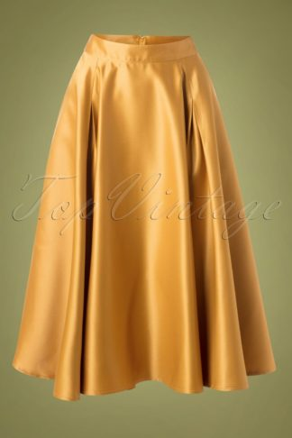 50s Miracles Full Swing Skirt in Gold