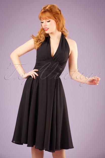 50s Monroe Dress in Black