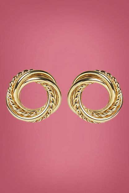 50s Nahum Twisted Earstuds in Gold