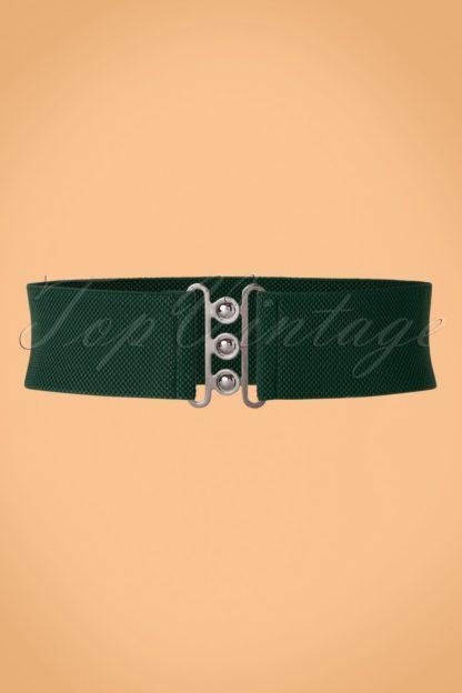 50s Nessa Cinch Stretch Belt in Green