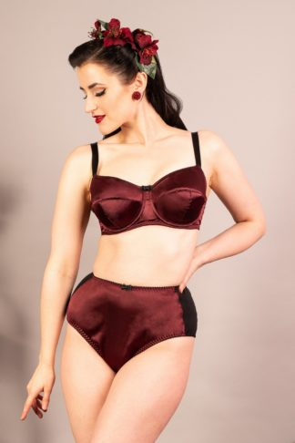 50s Obsession Bra in Wine