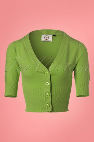 50s Overload Cardigan in Olive Green
