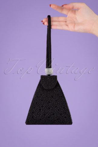 50s Own The Night Party Clutch in Black