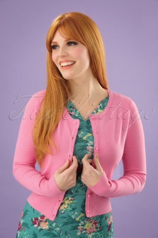 50s Paloma Cardigan in Candy Pink