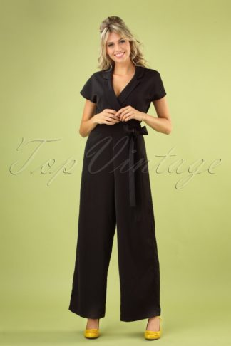 50s Party Time Jumpsuit In Black