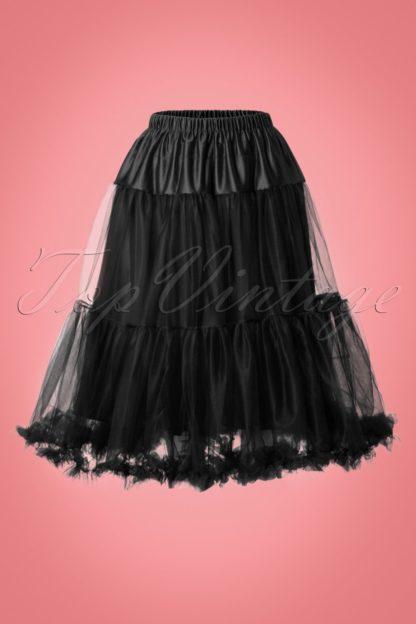 50s Polly Petticoat in Black