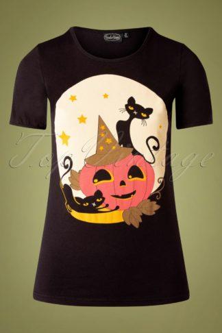 50s Pumkin T-Shirt in Black