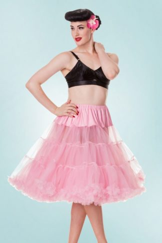 50s Retro Chiffon Petticoat in Bubblegum Pink