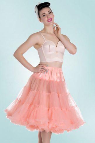 50s Retro Chiffon Petticoat in Coral
