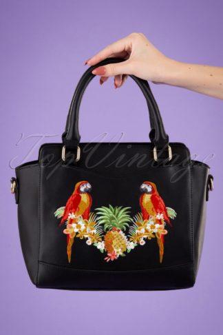 50s Seychelles Tropical Bag in Black