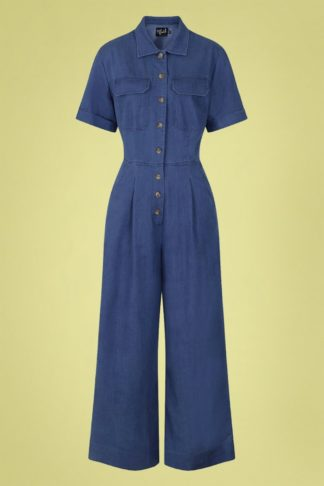 50s Stark Boilersuit in Denim Blue
