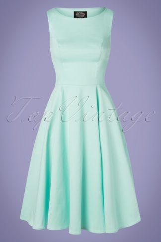 50s Stella Swing Dress in Mint