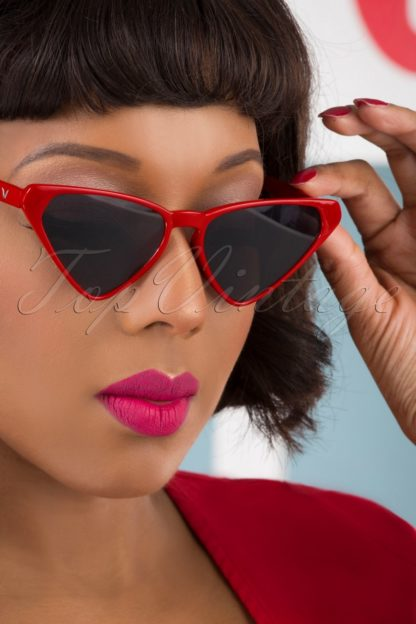 50s Terri Sunglasses in Red