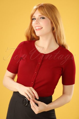 50s Wendi Cardigan in Red