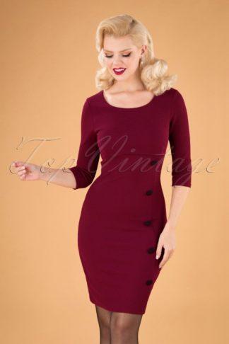 50s Winona Pencil Dress in Wine