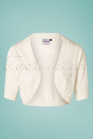 50s You Are My Sunshine Bolero in Ivory