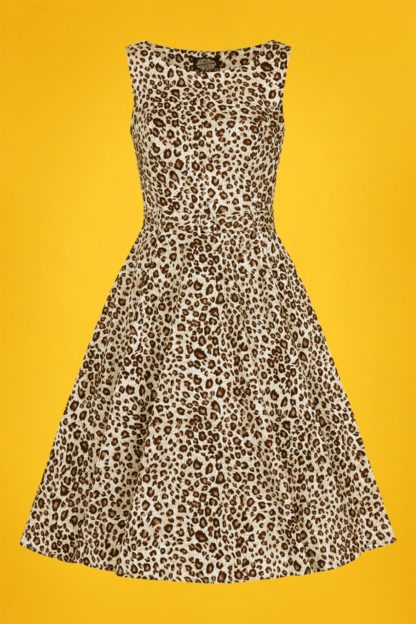 50s Zabrina Swing Dress in Leopard