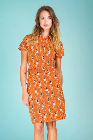 60s A Nice Girl Like You Dress in Orange