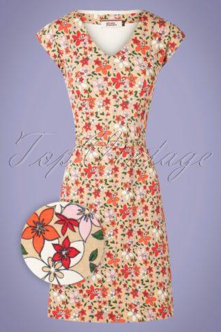 60s A Womans Love Dress in Beige