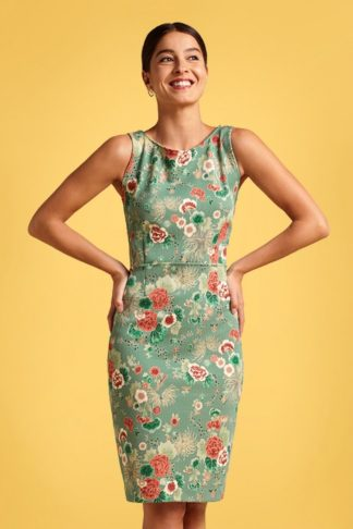 60s Alma Miyako Dress in Spar Green