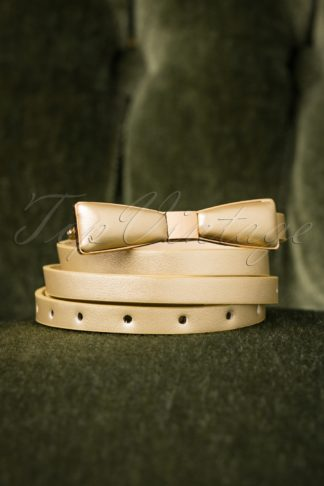 60s Bow Belt in Gold