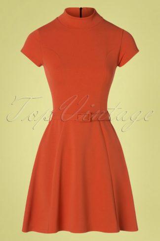 60s Brielle Swing Dress in Brick Orange