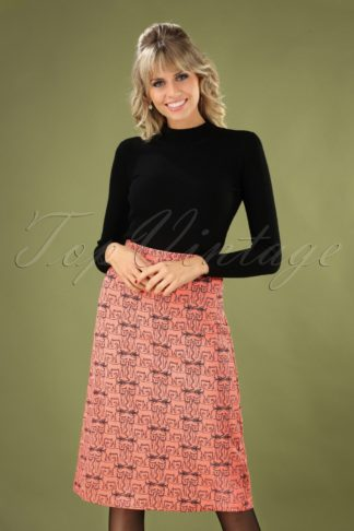60s Falda Skirt in Peach Pink
