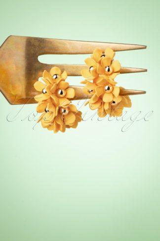 60s In Bloom Earrings in Yellow