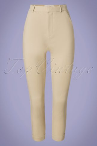 60s Jaylo Trousers in Beige