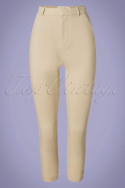 60s Jaylo Trousers in Beige