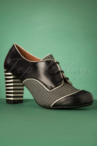 60s Listas Mad Cebra Leather Booties in Black