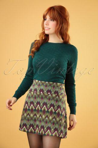 60s Olivia Skye Skirt in Posey Green