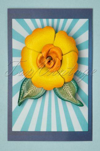 60s Primrose Brooch in Yellow