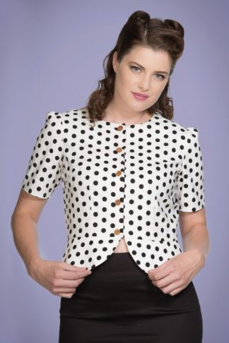 60s Spotlight Blouse in White