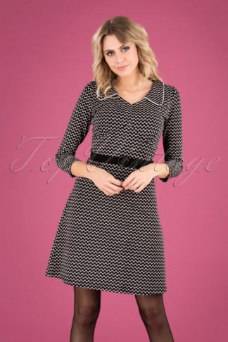 60s Vintage Moments Dress in Black and White