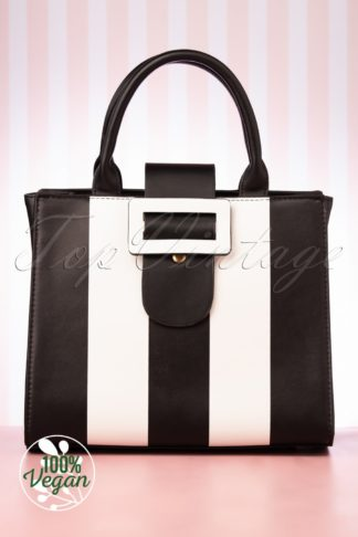 60s Vivi Adored Handbag in Black and White
