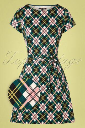 60s Zoe Cambridge Dress in Dragonfly Green