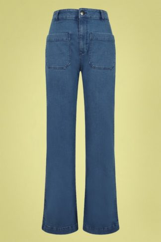 70s Birkin Denim Jeans in Blue