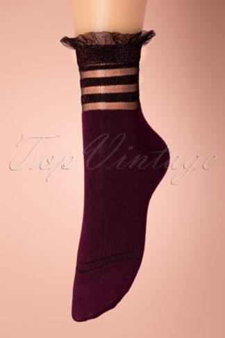 70s Fritz Fig Socks in Aubergine