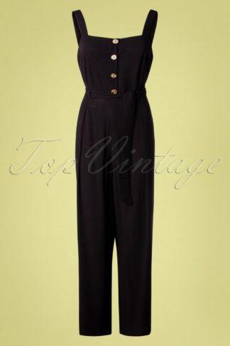 70s Ines Verona Jumpsuit in Black