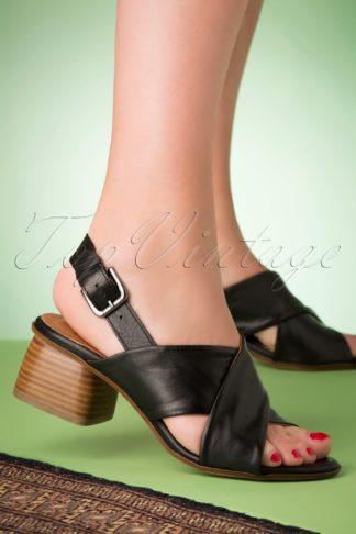 70s Natasha Sandals in Black