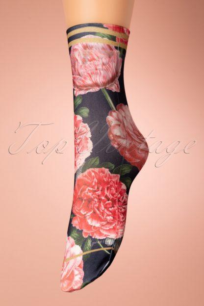 70s Tulipa Socks in Black