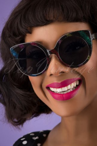 70s Yolanda Disco Sunglasses in Black
