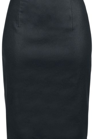 Banned Alternative Black Pencil Skirt Mittellanger Rock schwarz