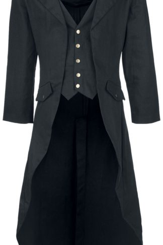 Banned Alternative Dovetail Coat Militärmantel schwarz