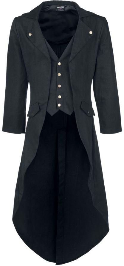 Banned Alternative Dovetail Coat Militärmantel schwarz