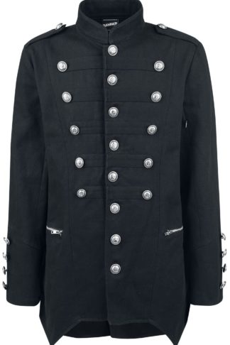 Banned Alternative Military Drummer Coat Militärmantel schwarz